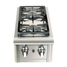 cal deluxe stainless steel built in dual fuel gas double