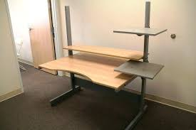 stand up l with shelves l shaped stand up desk stand up office desk l shaped sit stand desk