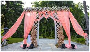 plan and design wedding decorations for an exclusive outdoor