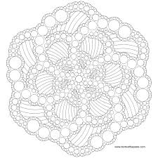 dotted mandala to color also available as a jpg coloring lots of