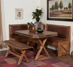 Dining Room Nooks Best Choice Of Sedona Breakfast Nook Set W Side Bench Oak