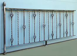 decorative steel railing iron