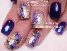 nail art tutorial diy sharpie nails vintage purple flower nail