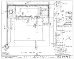 1934 survey of fort matanzas first floor plan no 15 5 us