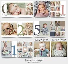 Photo Albums For Sale Sale 12x12 Baby Album Photoshop Template Newborn By Tiramisudesign