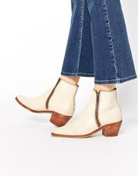 hudson womens boots sale h by hudson h by hudson azi white leather ankle boots in white