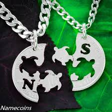 best friends necklace set images Turtle best friends necklaces interlocking set namecoins jpg