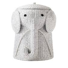 Elephant Bathroom Decor Home Decorators Collection Animal 16 In W Laundry Hamper In White