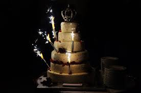 a wedding cake wedding cake sparklers enhance your cake cutting ceremony