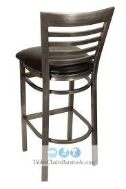Metal Bar Stools With Wood Seat Gladiator Clear Coat Full Ladder Back Metal Bar Stool W Walnut
