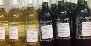 wine bottle favors wedding wines brews up