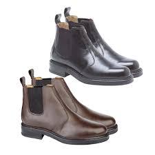 chelsea boot slip on shoe black brown leather non steel toe cap