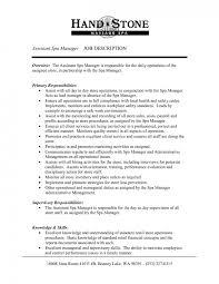 Real Estate Job Description For Resume by Cover Letter Sample For Spa Manager Sales Manager Cover Letter