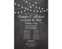 wedding program sign chalkboard wedding program sign printable wedding program sign