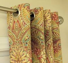 Drapes Grommet Top Two 50 Wide Curtains Waverly Swept Away Paisley By Sewpanache