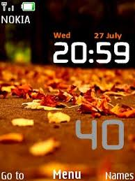 clock themes for android mobile download android nature clock nokia theme mobile toones