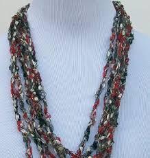 trellis ladder yarn necklace instructions trellis ladder ribbon necklace handmade necklace crochet