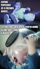 Meme Eating Popcorn - how i really eat popcorn funny memes