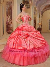 quinceanera dresses coral appliques one shoulder coral taffeta quinceanera dress with