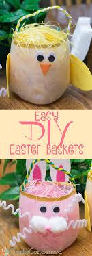 diy easter basket easy diy easter baskets