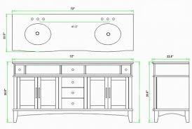 Standard Bathroom Vanity Sizes by Double Sink Size Befon For