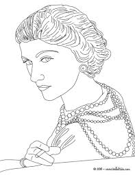 coco chanel french designer coloring pages hellokids com