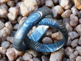 blue steel rings images Handmade damascus rings products 12 christopher road JPG