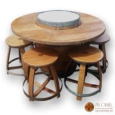 transitional swivel bar stools wine barrel side table wine barrel