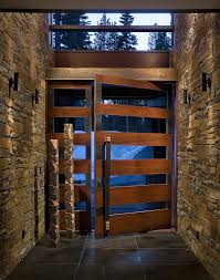 wood and glass exterior doors wood andglass doors the pivot door was made with materials of