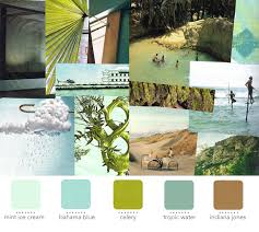 tropical color board would work great in an outdoor area or if