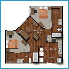 Bedroom Floorplan by College Station Two Bedroom Apartments Northpoint Crossing