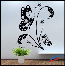 wall art stickers decors flower butterfly with swirls 045 wall wall art stickers decors flower butterfly with swirls 045 wall art stickers