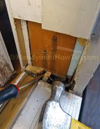 Build Exterior Door Frame Exterior Door Frame Repair Split And Remove Wood Fastened To
