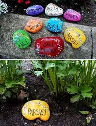 Garden With Rocks Terrace And Garden Colorful Diy Rock Ideas 15 Easy Diy