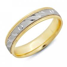 the gents wedding band women s engraved two tone 14k gold anniversary ring