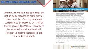 writing a professional bio best professional bio examples to use