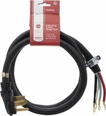 smart choice 6 u0027 50 amp 4 prong range cord black 5305510956 best buy