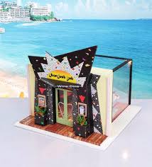 new wooden doll house for kids funny diy educational toys 3d doll