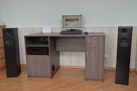 Computer Desk Built In Multimedia Desk With Built In Subwoofer 8 Steps With Pictures