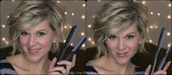 how to stlye a stacked bob with wavy hair curly hair tutorial for inverted or stacked bob using a flat