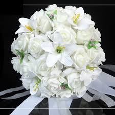White Wedding Bouquets Aliexpress Com Buy Japan And Korean Style Wedding Bouquet