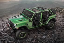 green jeep rubicon 2018 jeep wrangler modified with mopar parts autobics