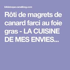 la cuisine de mes envies rôti de magrets de canard farci au foie gras la cuisine de mes