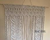 Wedding Altar Backdrop Modern Macrame With A Whimsy Touch By Studiosenbel On Etsy