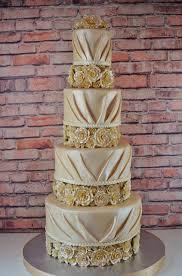 pleated fondant wedding cake cup a dee cakes llc