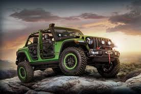 jeep modified mopar shows off modified jeep wranglers in l a