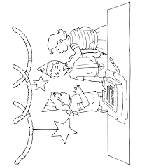 birthday coloring sheets birthday coloring page a boy and 2 girls at a party