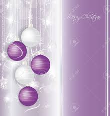 elegant christmas background with purple and white balls royalty
