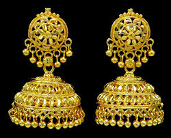 gold jhumka earrings design with price gold plated jhumka earring indian women wedding jewelry