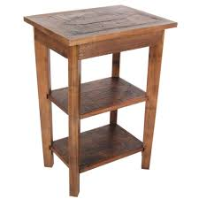 Oak End Tables Alaterre Furniture Revive Oak Storage End Table Arva0220